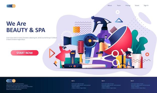 Illustrazione del modello di pagina di destinazione del settore della bellezza