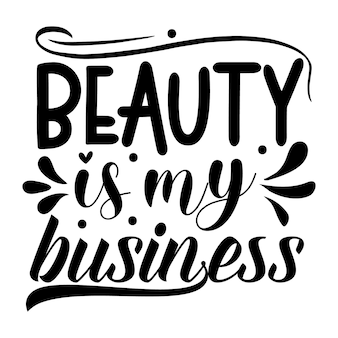 La bellezza è il mio lavoro