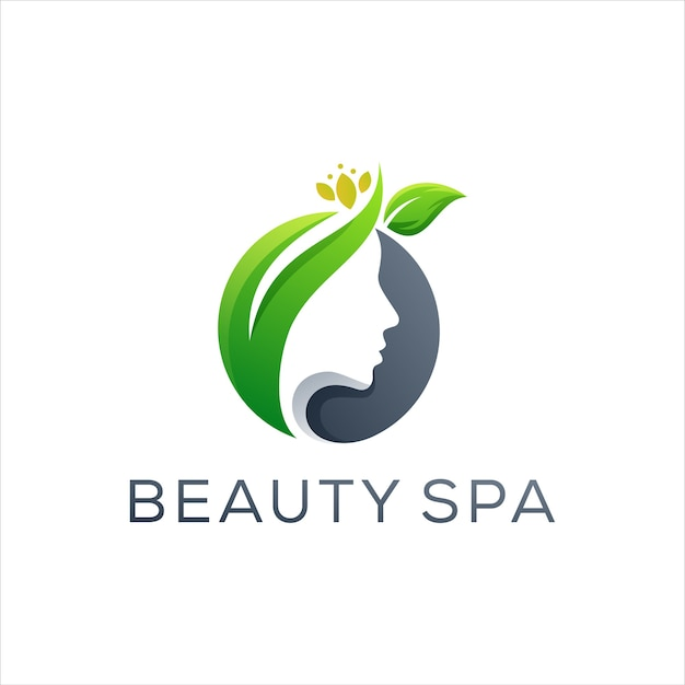 Logo di bellezza signora spa