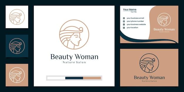 Modello di branding logo di bellezza premium