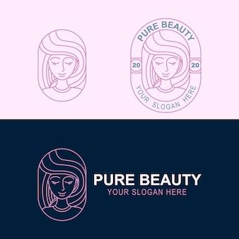Modello di branding del logo di bellezza