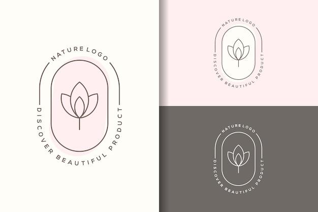 Design del logo del loto di bellezza