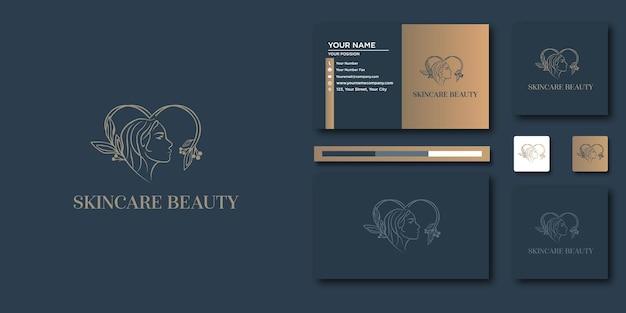 Marchio di lusso di bellezza. astratto di lusso per il design del logo e del biglietto da visita