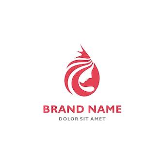 Modello del logo dell'icona di vettore di simbolo di queen simbolo di bellezza