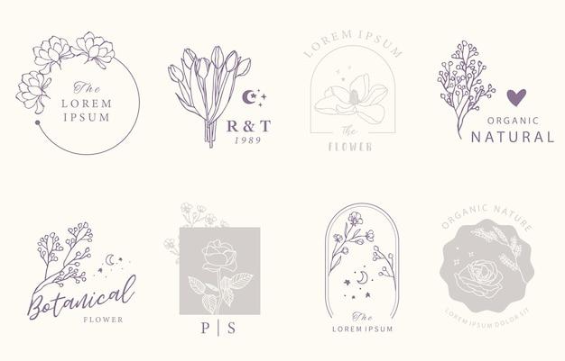 Collezione di design occulto di bellezza con motivi geometrici