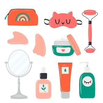 Procedura di bellezza cura del viso e del corpo detergente idratante cicatrizzante