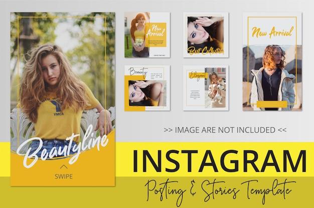 Negozio online di vendite di bellezza collezione instagram post