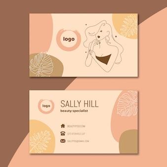Pacchetto modello di biglietto da visita salone di bellezza