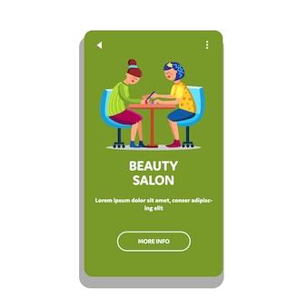 Salone di bellezza per donne alla moda glamour