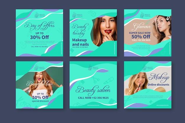 Post di instagram del salone di bellezza