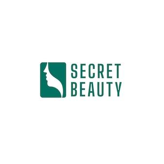 Salone di bellezza logo modello illustrazione vettoriale design