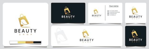 Negozio di bellezza, per il tuo stile di vita, ispirazione per il design del logo