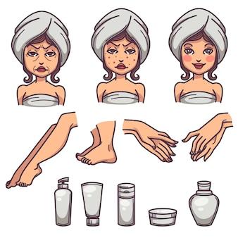 Bellezza, cura della pelle e trattamento del corpo