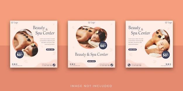 Modello di post per social media del centro beauty & spa