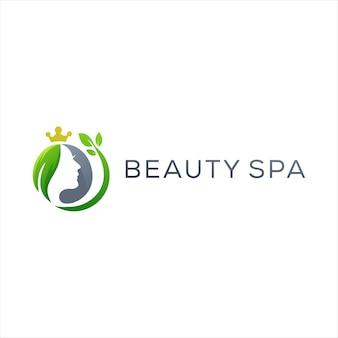 Design del logo di bellezza spa natura