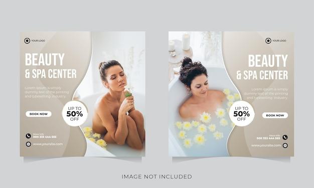 Post sui social media per la promozione di bellezza e spa