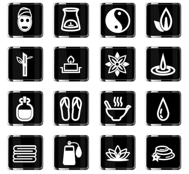 Icone vettoriali di bellezza e spa per la progettazione dell'interfaccia utente