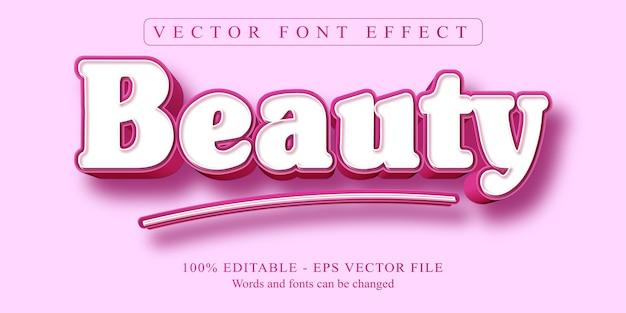 Testo di bellezza, effetto di testo modificabile in stile cartone animato