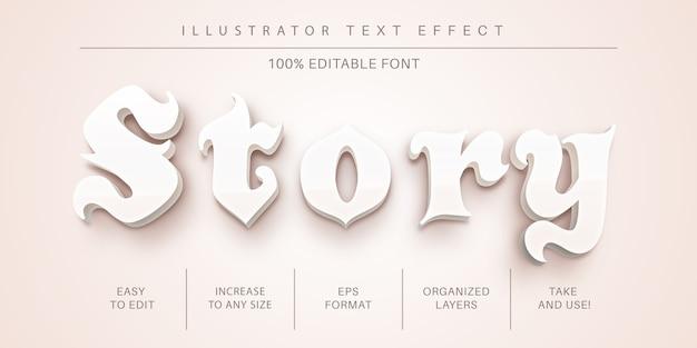 Stile del carattere effetto testo bellezza
