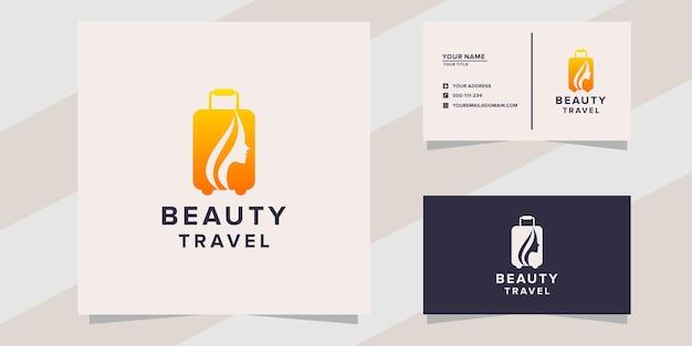 Modello di logo di viaggio di bellezza