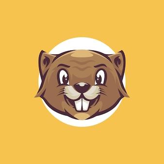 Modello di logo di castoro