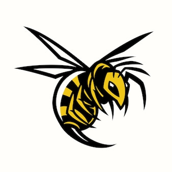 Mascotte della vespa del calabrone dell'ape