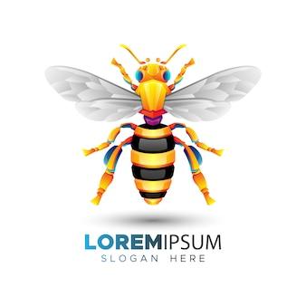 Modello di logo dell'ape