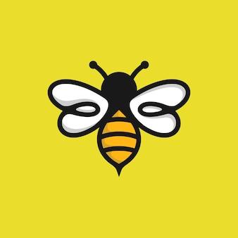 Modello di logo di ape