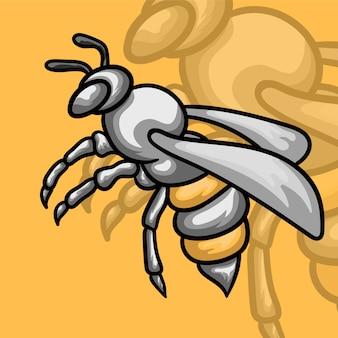 Illustrazione del logo della mascotte dell'ape