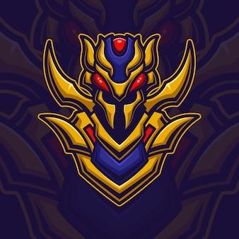 Bee robot monster esport logo gaming