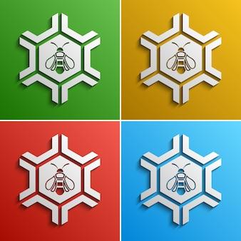 Logo stilizzato dell'ape, opzioni di colore,