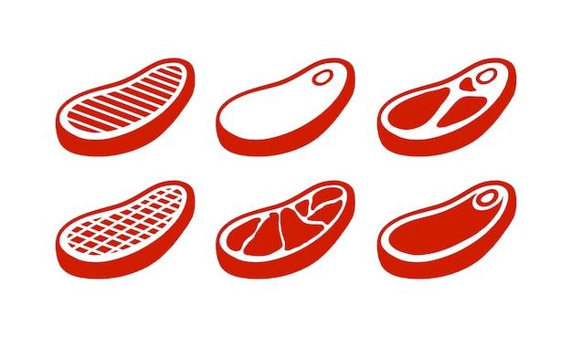 Set di elementi di carne di manzo