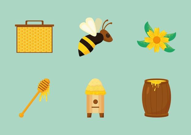 Set di elementi di apicoltura