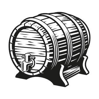 Barile di birra isolato sul bianco