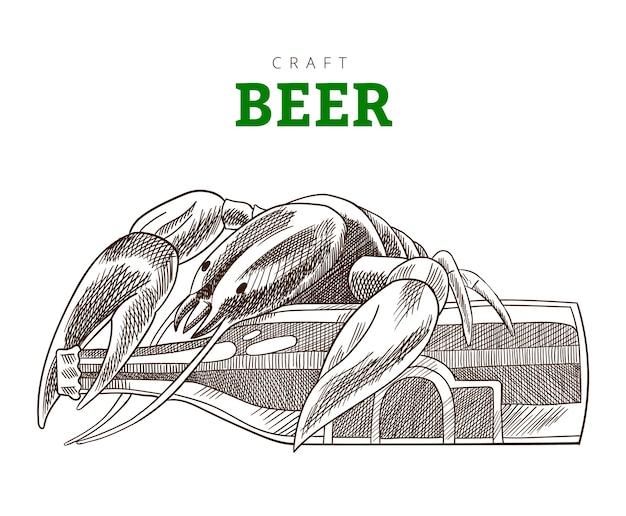 Bottiglia di birra e cancro che si siedono su una bottiglia