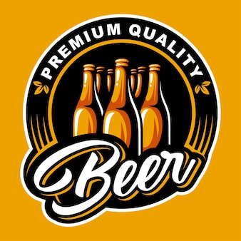 Logo della bottiglia di birra