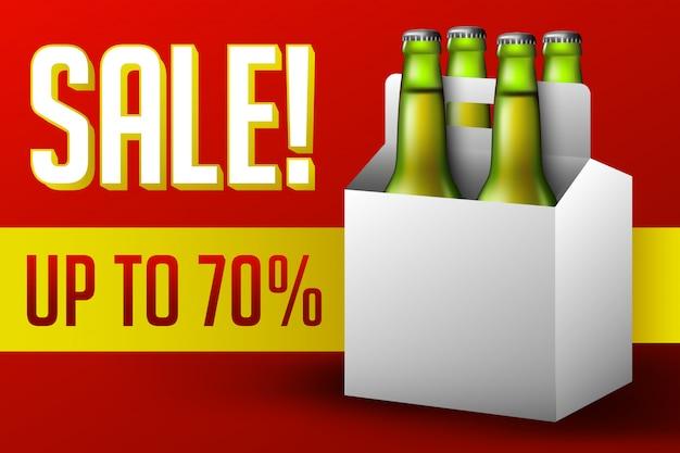 Vendita di scatole di birra