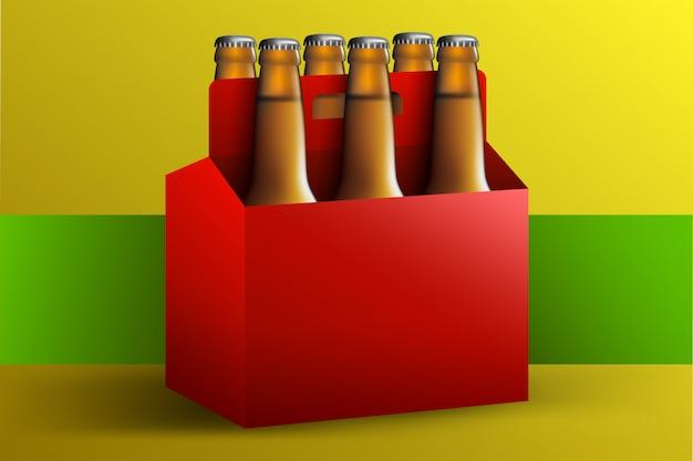 Scatola di birra sei