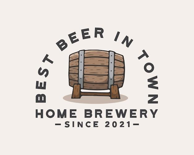 Modello di logo del birrificio di birra