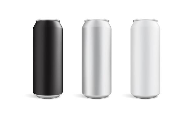 Lattina di birra isolato su sfondo bianco