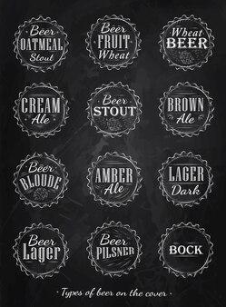Gocce di tappi di birra