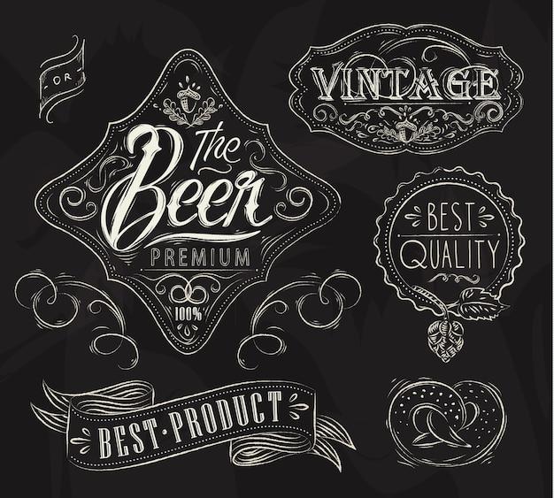 Gesso elementi di birra