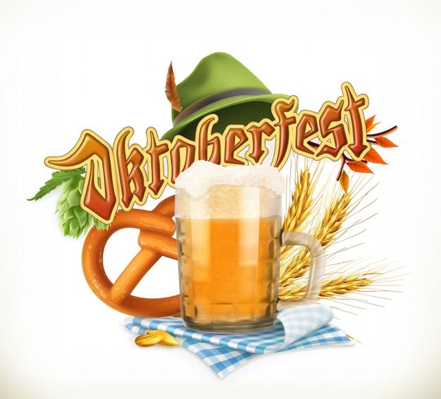 Festa della birra, oktoberfest, illustrazione vettoriale