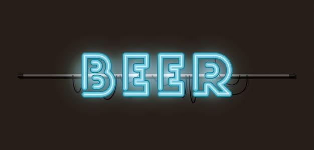 Birra font luci al neon