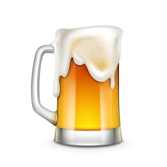 Illustrazione di vetro di birra isolata