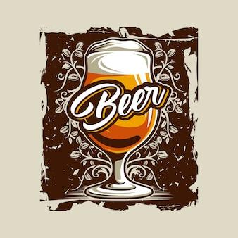 Vettore di vetro di birra