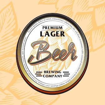 Beer label bevande audaci in stile vintage