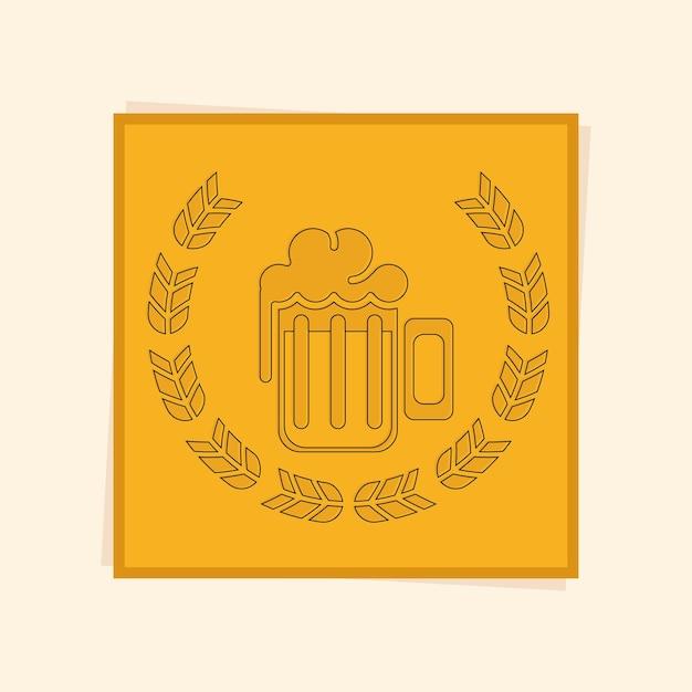 Corona di alloro alla birra
