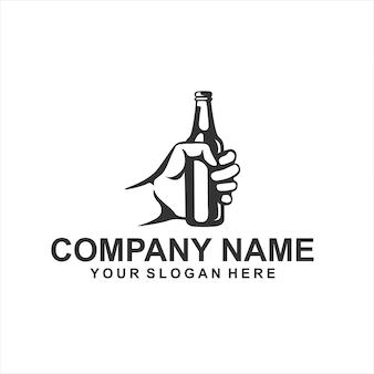 Vettore logo birra
