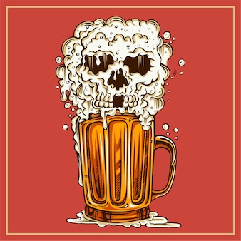 Teschio di birra